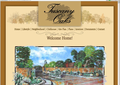 Tuscany Oaks Website Design 1