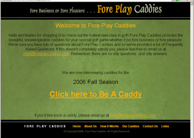 Fore Play Caddies