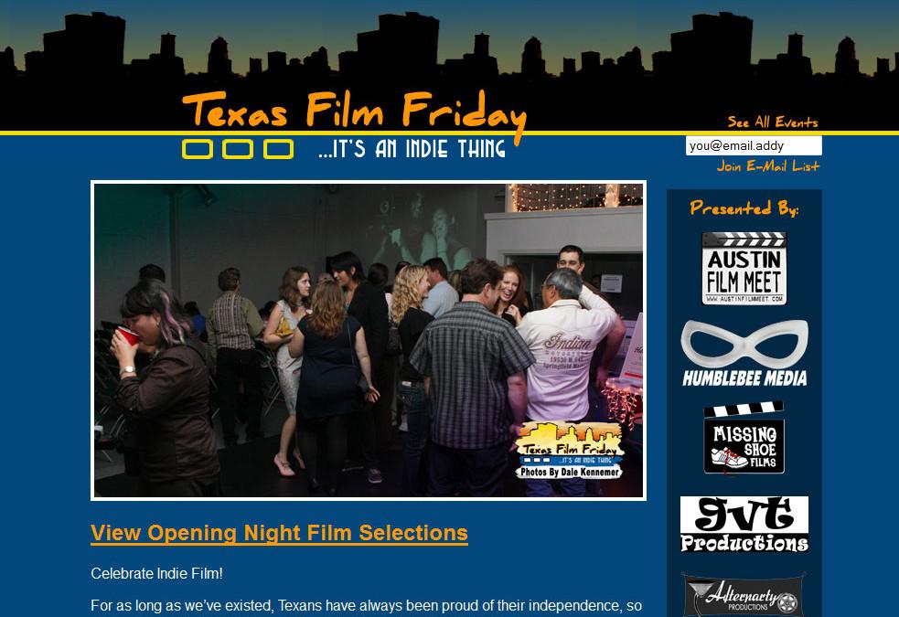 Texas Film Friday New Media & Film Festival
