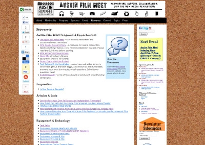 Austin Film Meet Community Events